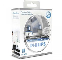 Лампа галогеновая Philips H1 WhiteVision +60% (12258WHVSM) от MOYO
