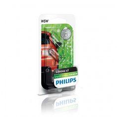 Лампа накаливания Philips W5W LongLife EcoVision (12961LLECOB2) от MOYO