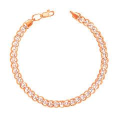 Акция на Золотой браслет в комбинированном цвете фантазийного плетения 000104366 000104366 22 размера от Zlato