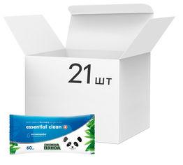 Упаковка влажных салфеток Снежная панда Essential Clean Витамины для рук и тела 21 пачка по 60 шт (4820183970541) от Rozetka