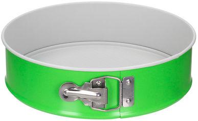Акция на Форма для выпечки тортов SNB антипригарная с покрытием нон-стик с одним гофрированным дном 24 см зелено-серая (SNB-99023/10) от Rozetka
