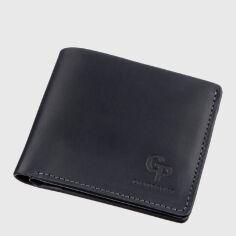 Акция на Кожаный мужской кошелек Grande Pelle leather-11206 Черный от Rozetka