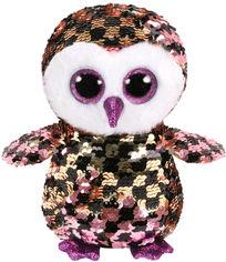 Акция на Мягкая игрушка TY Checks Сова в пайетках Розовая с черным 15 см (36673) (8421366736) от Rozetka