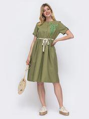 Акция на Платье Dressa 48166 44-46 Хаки (2000319577291) от Rozetka