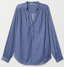Блузка H&M XAZ164002LNDR 34 Светло-синяя (DD2000003659890) от Rozetka