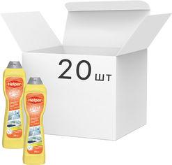 Упаковка чистящего крема Helper универсального Лимон 500 мл х 20 шт (4820183970596) от Rozetka