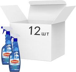 Упаковка моющего средства Helper для мытья стекол Морская свежесть 500 мл х 12 шт (4823019010343) от Rozetka