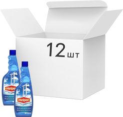 Акция на Упаковка моющего средства Helper для стекол Морская свежесть (запаска) 500 мл х 12 шт (4823019010367) от Rozetka