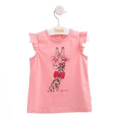 Акция на Футболка для девочки Bembi ФБ541 супрем розовый 62 от Podushka