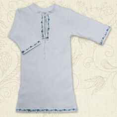 Акция на Сорочка для крещения малыша Кристиан-2 Бетис интерлок 62 цвет молочный с красным от Podushka