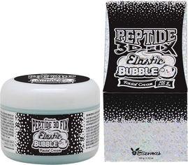 Акция на Elizavecca Peptide 3d Fix Elastic Bubble Facial Cream Омолаживающий пузырьковый крем для лица 100 g от Stylus