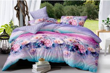 Акция на Комплект постельного белья MirSon Сатин 22-1117 Linda 220х240 см (2200001550056) от Rozetka