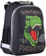 Акция на Рюкзак школьный каркасный 1 Вересня H-12-2 Dinosaurs 38x29x15 см для мальчиков (554623) от Rozetka