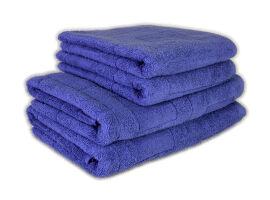 Акция на Махровое полотенце Terry Lux Cubes indigo синее 70х140 см от Podushka