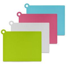 Акция на Доска нарезки гибкая Zeller прямоугольная пластик 26118  цвет розовый от Podushka