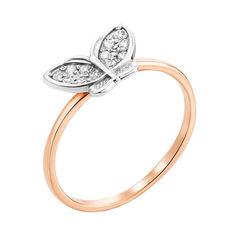 Кольцо в комбинированном цвете золота с фианитами 000000252 000000252 19.5 размера от Zlato