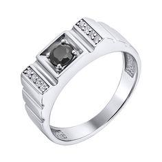 Серебряный перстень-печатка с цирконием 000140549 000140549 19 размера от Zlato