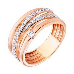 Акция на Кольцо из красного золота с фианитами и родированием 000140763 000140763 16.5 размера от Zlato