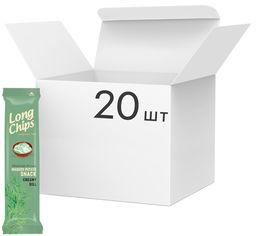 Упаковка чипсов Long Chips Сметана и зелень 75 г х 20 шт (14750127300745) от Rozetka