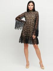 Платье Karree Росси P1841M5834 S Черное с бежевым (karree100012212) от Rozetka