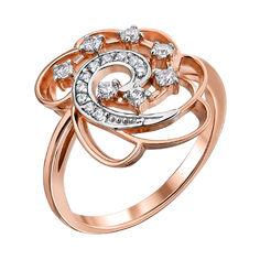 Акция на Золотое кольцо в комбинированном цвете с фианитами 000122180 000122180 18.5 размера от Zlato