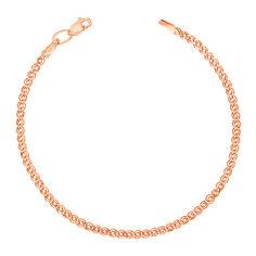 Акция на Золотой браслет с родированной алмазной гранью, 3мм 000056955 000056955 20 размера от Zlato