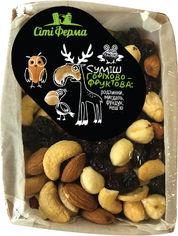 Смесь орехово-фруктовая Сити-Ферма изюм, миндаль, фундук, кешью 500 г (9900112200590) от Rozetka
