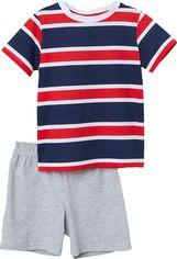 Акция на Пижама (футболка + шорты) H&M 6190878 98-104 см Темно-синяя в полоску (hm06597863236) от Rozetka