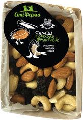 Смесь орехово-фруктовая Сити-Ферма изюм, миндаль, кешью 500 г (9900112200576) от Rozetka