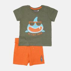 Акция на Костюм (футболка + шорты) Canada House S2BO5207-702XC 86 см Зеленый с оранжевым (2000229020351) от Rozetka