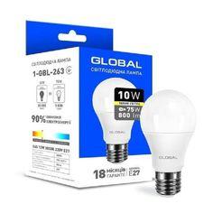 Светодиодная лампа GLOBAL A60 10W мягкий свет 220V E27 AL (1-GBL-263) от MOYO