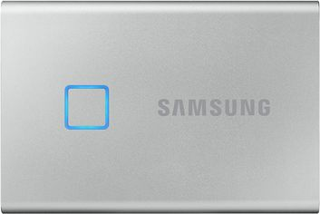 Samsung Portable SSD T7 TOUCH 2TB USB 3.2 Type-C (MU-PC2T0S/WW) External Silver от Rozetka