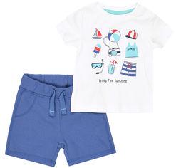 Акция на Костюм (футболка + шорты) C&A ca03200053 68 см Белый (SHEK2000000430447) от Rozetka