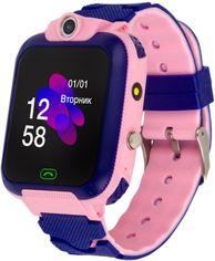 Акция на Смарт-часы Discovery iQ4900 Camera LED Light Pink от Rozetka