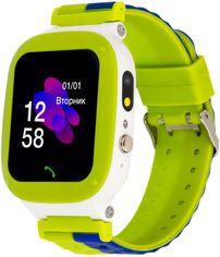 Акция на Смарт-часы Atrix iQ2200 IPS Cam Flash Green от Rozetka