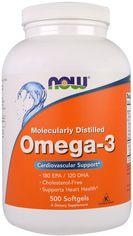 Жирные кислоты Now Foods Омега-3 1000 мг 500 желатиновых капсул (733739016539) от Rozetka