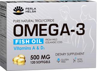 Жирные кислоты PERLA HELSA Натуральная Омега-3 из печени трески дикого улова с витаминами А и D3 120 капсул по 500 мг (PHR100500) от Rozetka