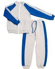 Акция на Спортивный костюм Danaya 219F/17 134 см Серый с синим (2000013374400) от Rozetka