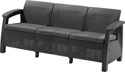 Софа Allibert Corfu Love Seat Max Серая (3253929120015) от Rozetka
