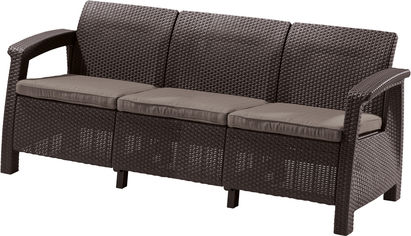Софа Allibert Corfu Love Seat Max Коричневая (3253929120770) от Rozetka
