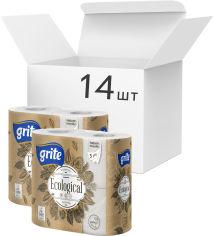 Упаковка туалетной бумаги Grite Plius Ecological 135 отрывов 3 слоя 4 рулона 14 шт (4770023112818_4770023350234) от Rozetka