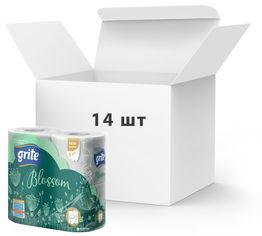 Упаковка туалетной бумаги Grite Blossom 150 отрывов 3 слоя 4 рулона 14 шт (4770023348743) от Rozetka