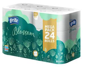 Туалетная бумага Grite Blossom 150 отрывов 3 слоя 24 рулона (4770023348712) от Rozetka