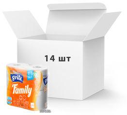 Упаковка туалетной бумаги Grite Family 150 отрывов 3 слоя 4 рулона х 14 шт (4770023192117) от Rozetka