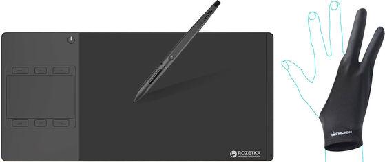 Графический планшет Huion Inspiroy G10T с перчаткой от Rozetka