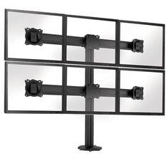 Подставка Chief Kontour K3G320 для 6-ти мониторов, черная от MOYO