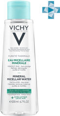 Мицеллярная вода Vichy Purete Thermale для жирной и комбинированной кожи лица и глаз 200 мл (3337875674454) от Rozetka