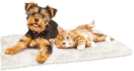 Акция на Согревающий коврик для собак и кошек Croci Furry 90 х 64 см Бежевый (8023222182790) от Rozetka