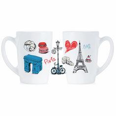 Набор кружек Luminarc New Morning Love Paris 2х320 мл P9812 от Podushka