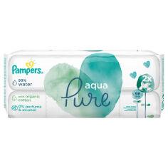 Акция на Детские влажные салфетки Pampers Aqua Pure 2x48 шт 8001090603357 от Podushka